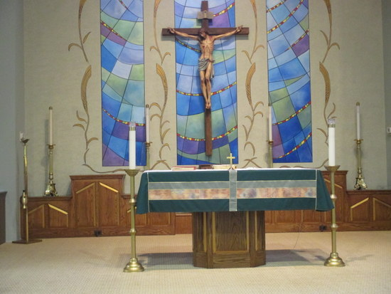 Altar and Large Crucifix