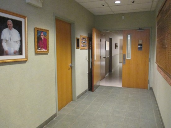 Hallway leading to the Rest Rooms