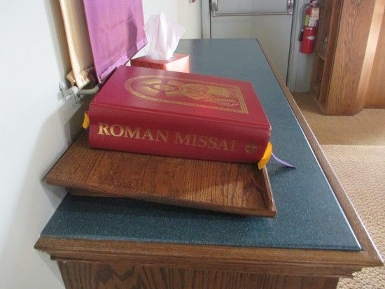 Roman Missal used by the Priest on the Altar