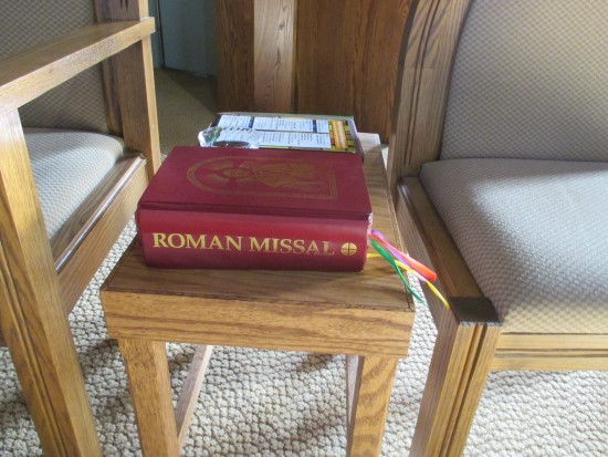 Roman Missal used by the Altar Server
