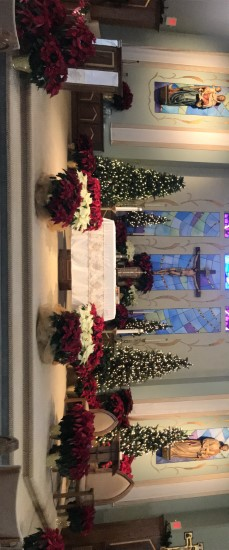 Christmas Altar at St. Catherine of Siena Church 2020