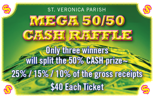 Mega Cash Raffle Graphic
