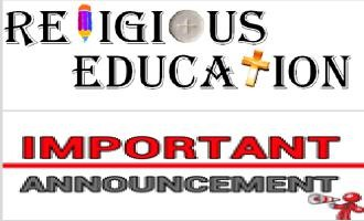 Religious Education Important Announcement